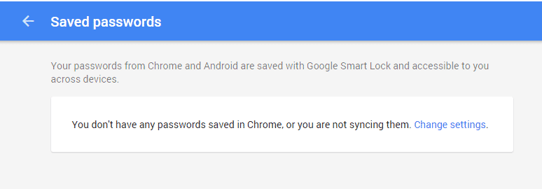 saved passwords in google