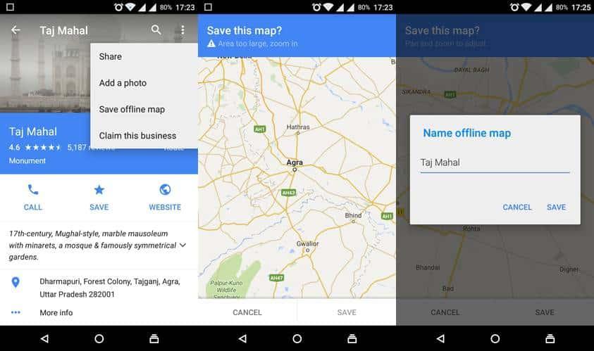 Google offline maps screenshot2
