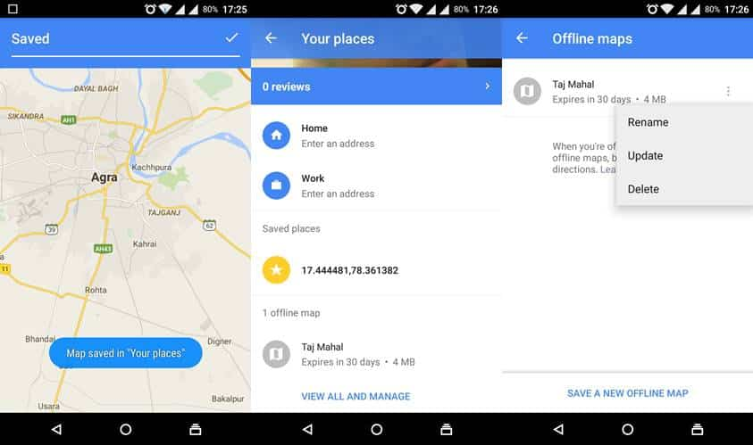 google maps app settings