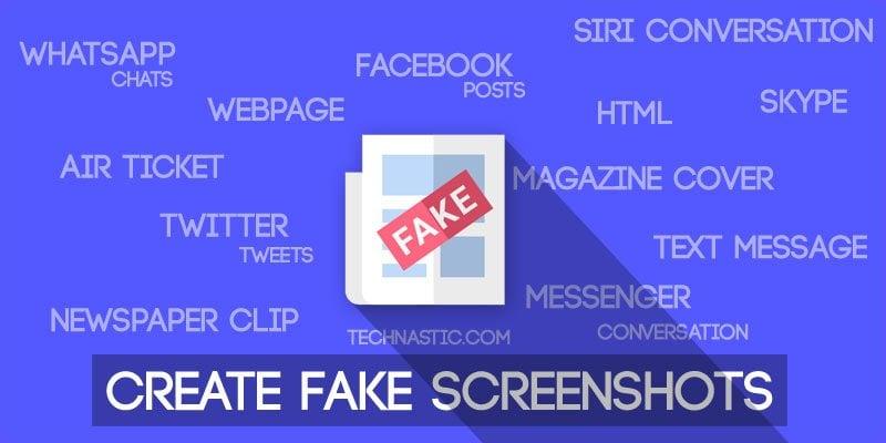 create fake screenshot