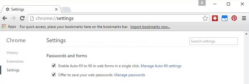 google chrome password manager