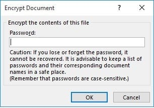 encrypt a document