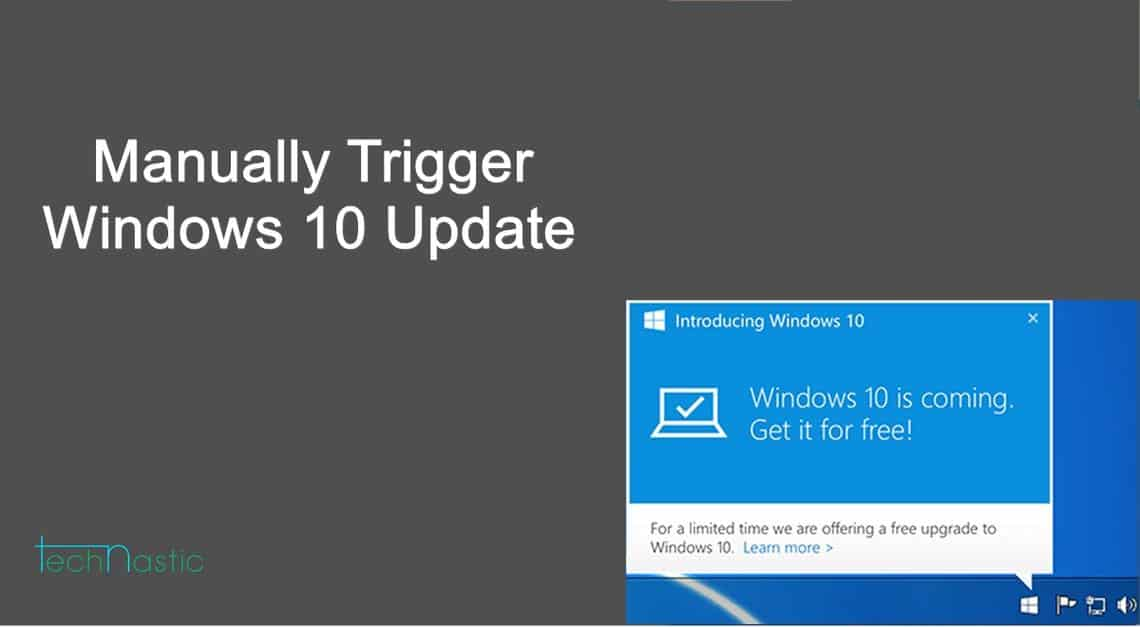 How to manually trigger windows 10 update on your pc for Windows 10 update