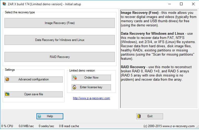 ZAR X Recovery tool