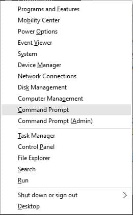 Command Prompt Options