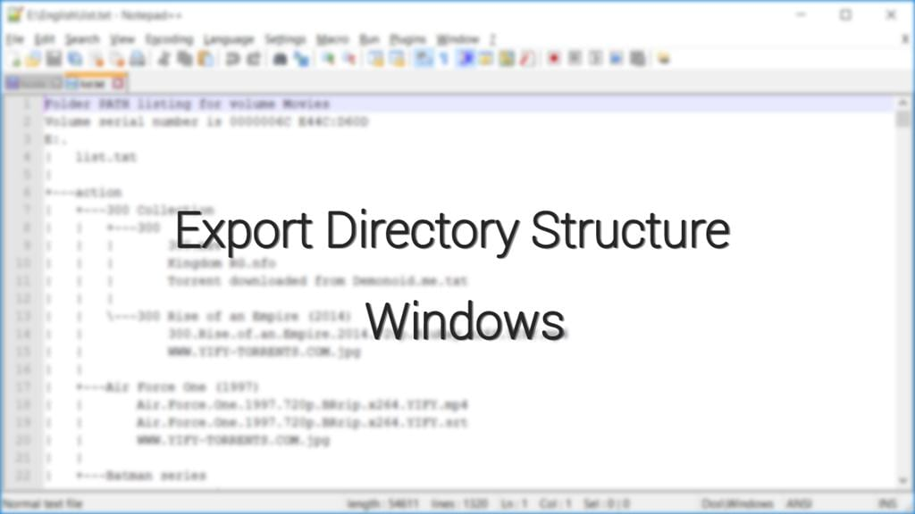 export-directory-structure-windows