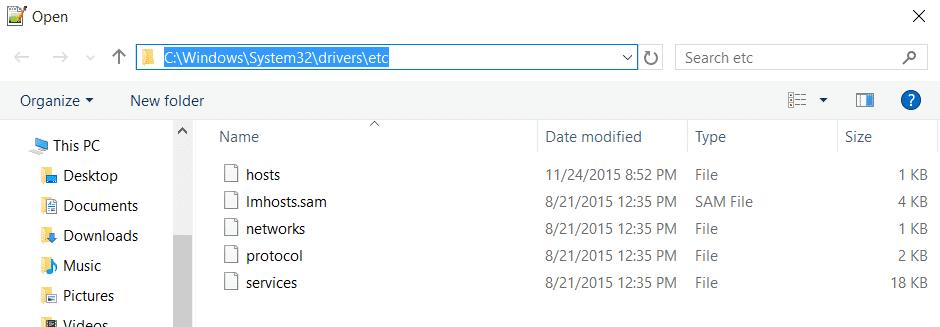 open-hosts-file
