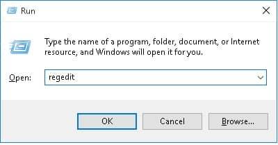windows regedit