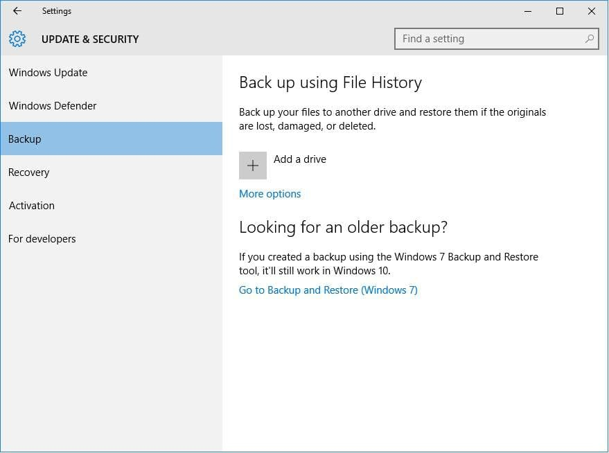 how to create a windows system image in windows 10