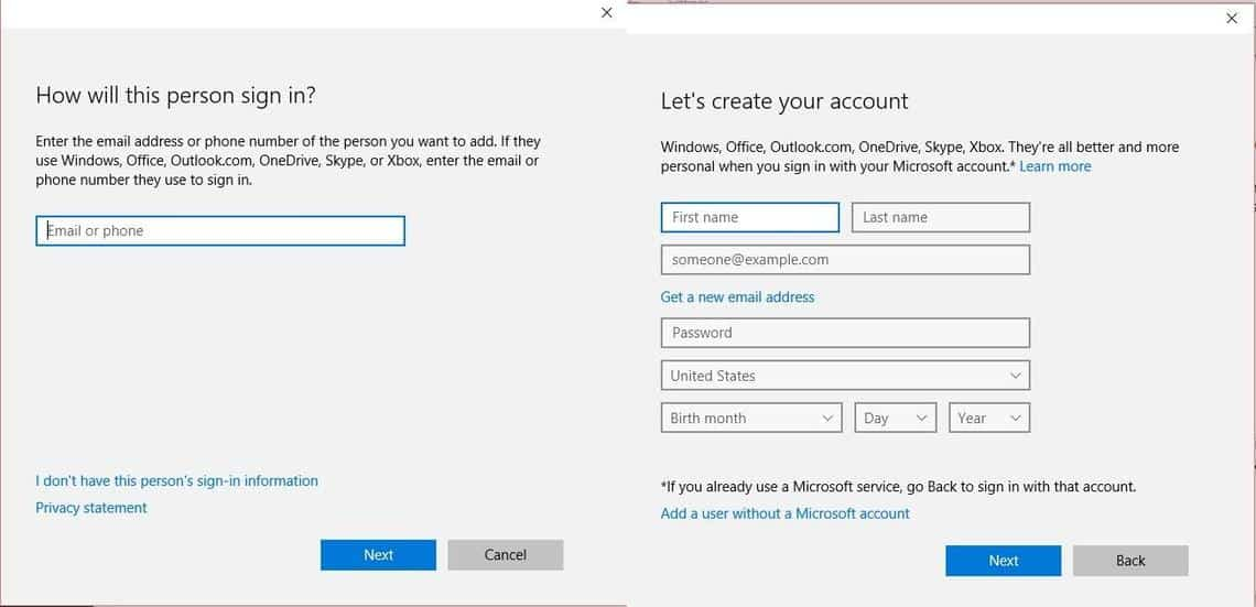 Create_without_microsoft account
