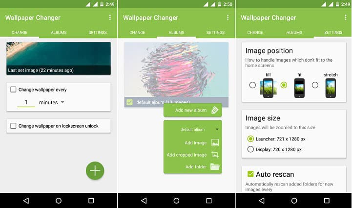 how to change wallpapers on android automatically technastic