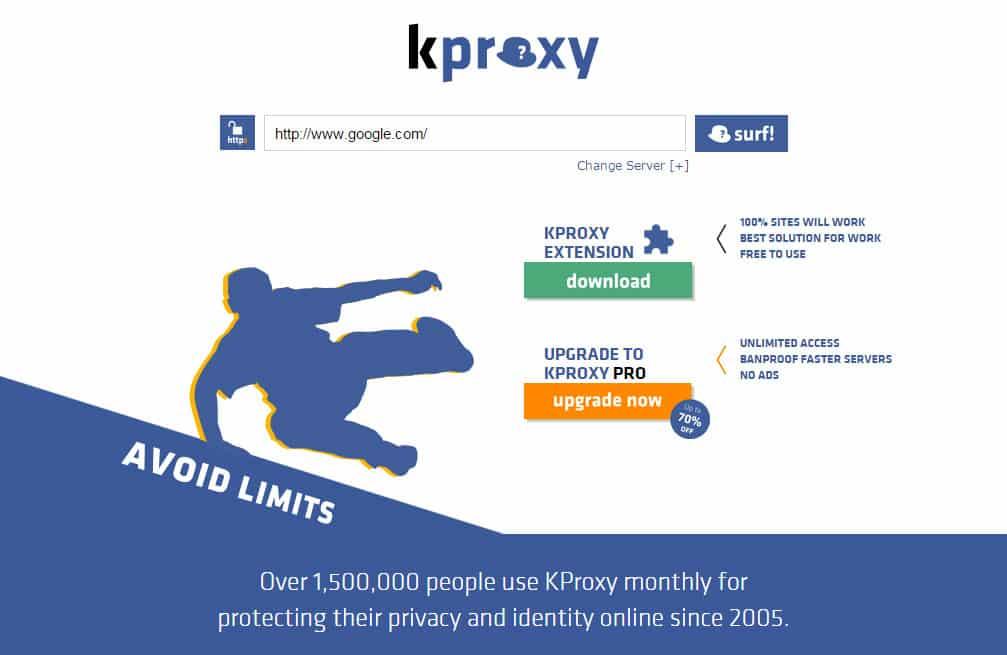 kproxy website