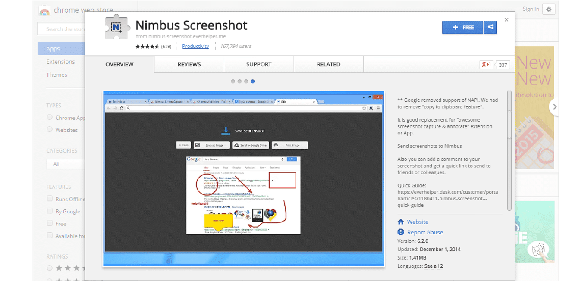 Nimbus Screenshot windows
