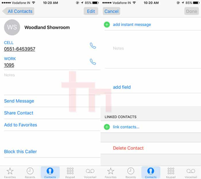delete multiple contacts iphone how to delete contacts on iphone technastic 3787