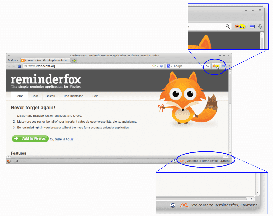 reminderfox extension