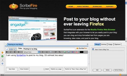 ScribeFire Blog Editor