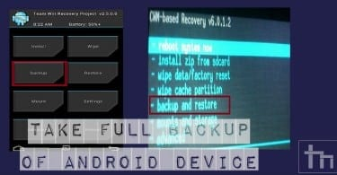 Take Full Backup Of Android Device