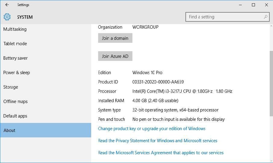 Windows OS-version