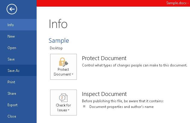 inspect word document