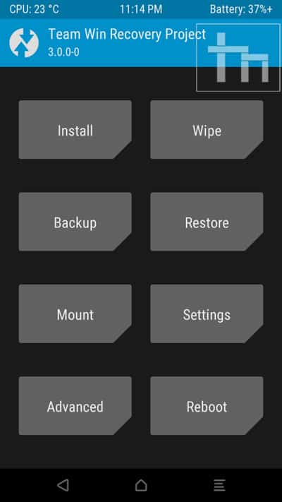 twrp-menu-screen
