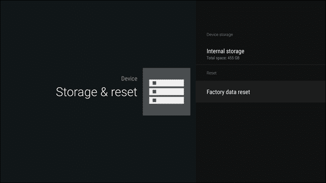 Reset Android TV - 4