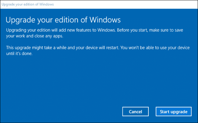 Upgrade Windows 10 2