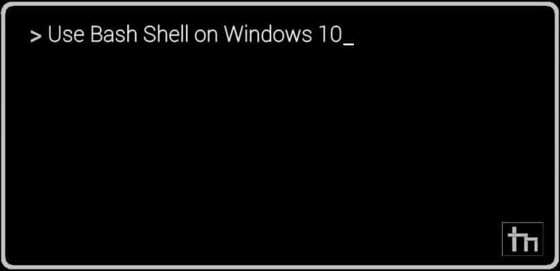 Use_Bashshell_Windows10