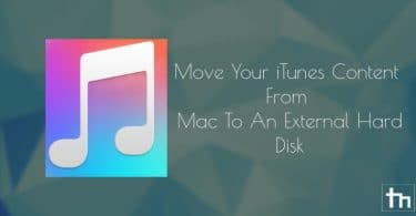 Move iTunes Content From Mac To An External Hard Disk