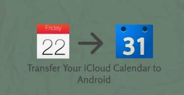 Transfer iCloud Calendar Android