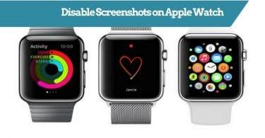 Disable Screenshots on Apple Watch