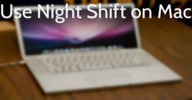 Use Night Shift on Mac