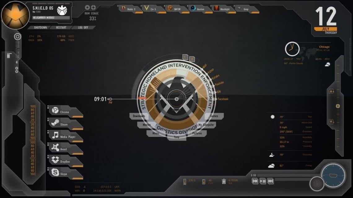 avengers shield os desktop widgets