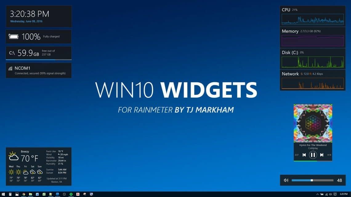 win10 widgets rainmeter