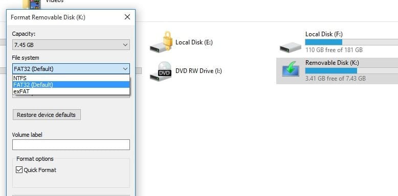 difference between fat and ntfs pdf
