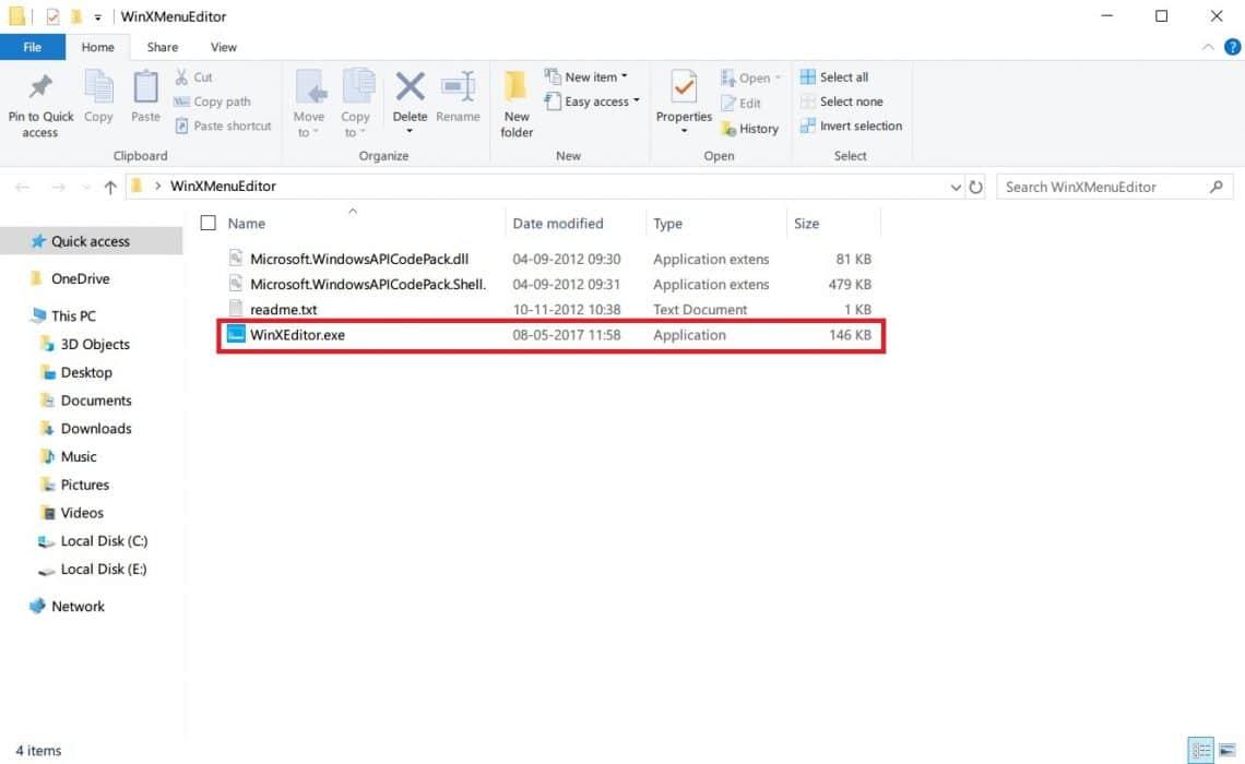 Edit Win+X Menu on Windows