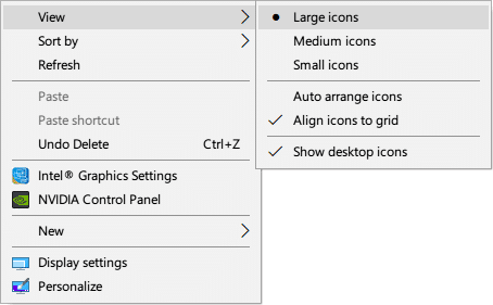 How To Change Desktop Icon View To Details And List View