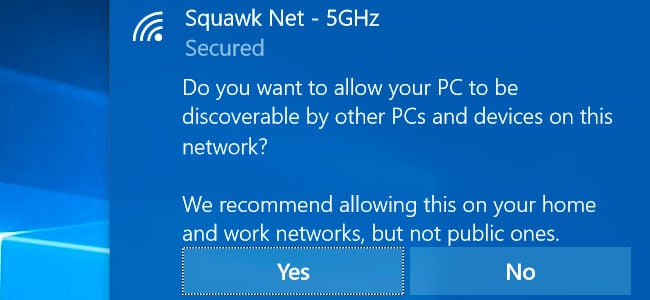 set network to private windows 10