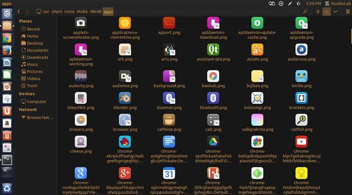Moka theme Ubuntu 17.10