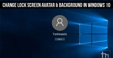 Change Lock Screen Avatar & Background in Windows 10
