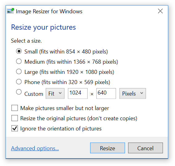 Quickly Resize Images With A Right-Click On Windows