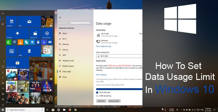 limit data usage iphone how to set data usage limit in windows 10 technastic 7869