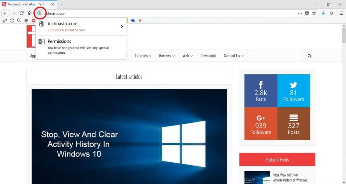 How to Check Permissions and Cookies Stored by a Website on Chrome and Firefox
