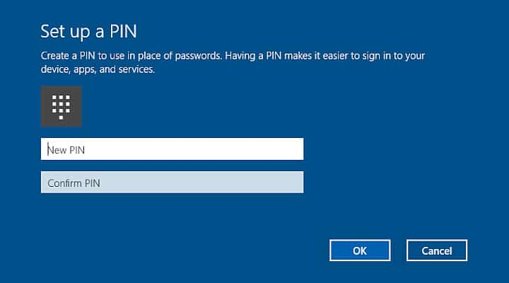 Log into Windows 10 PC Using PIN instead of a Password