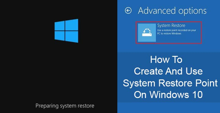 System Restore Point on Windows 10