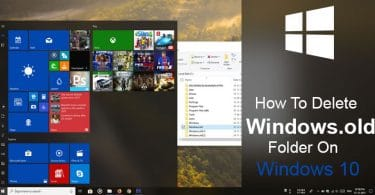 How To Delete Windows.old Folder on Windows 10