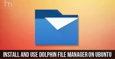 Dolphin File Manager on Ubuntu