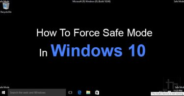Force Safe Mode in Windows 10