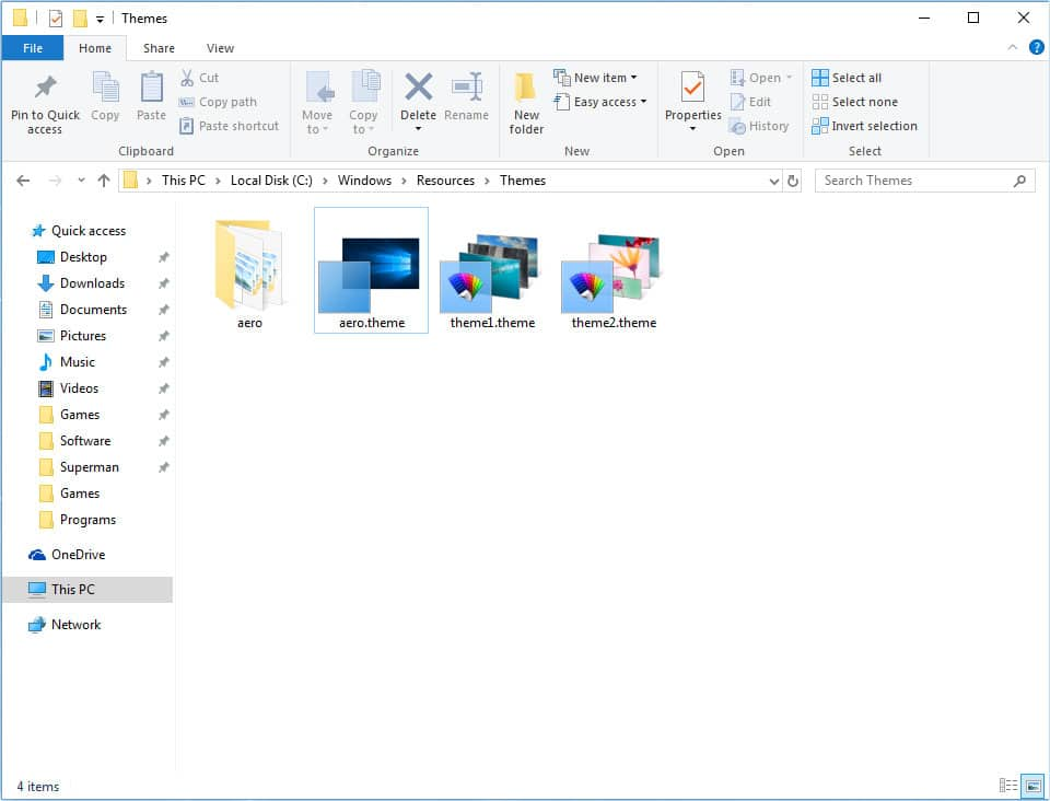 Install And Apply Third-Party Themes In Windows 10