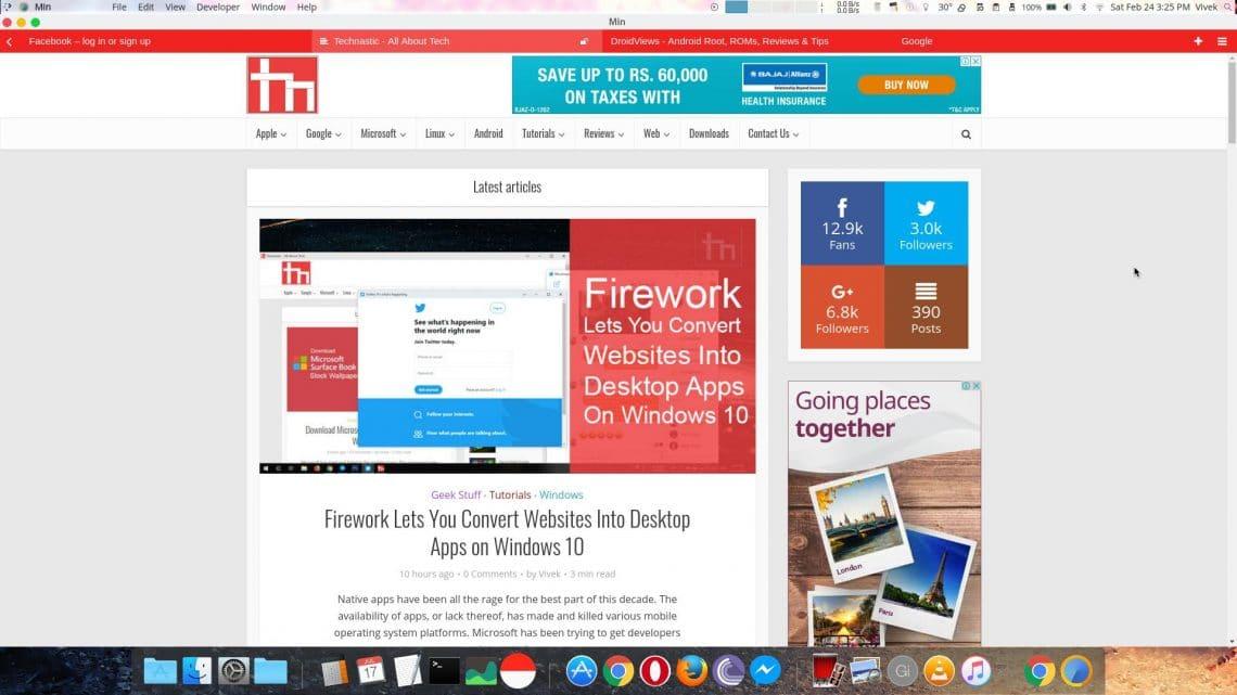 min browser tabs