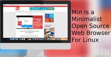 Min is a Minimalist Open Source Web Browser